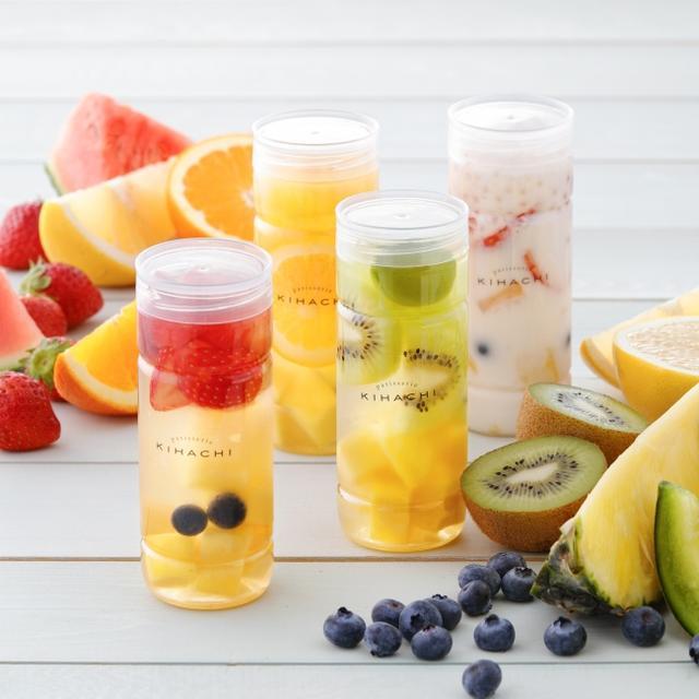 画像2: 【パティスリー キハチ】マンゴー、パイン、桃、キウイなどカラフルでみずみずしいフルーツをぎゅっと詰めた「フルーツポンチ」3種