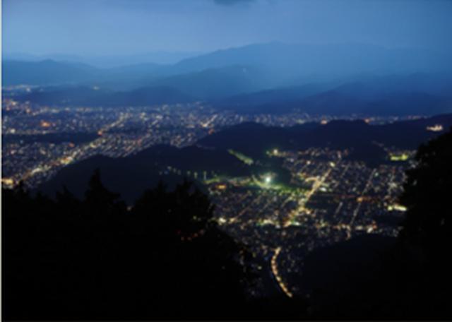 画像: 「ケーブル比叡駅」からの夜景