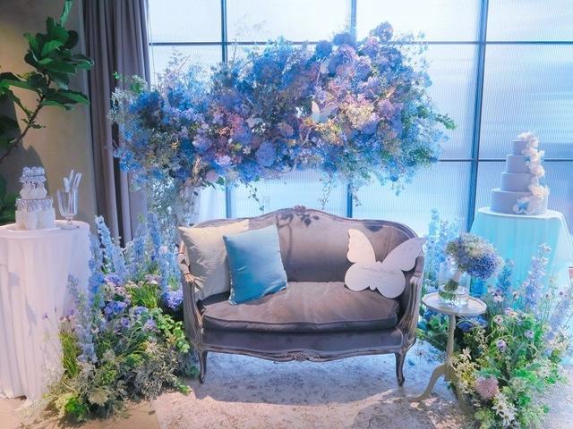 画像1: 結婚式を翌日に控えた花嫁の''夢の世界''を表現したウエディング会場