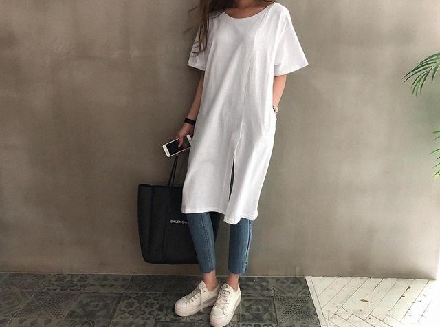 画像6: Qoo10のトレンド調査!夏の定番アイテムだからこだわりたい!オーバーサイズがかわいい「Tシャツ」が人気