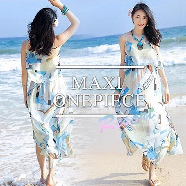 画像: [Qoo10] リゾートワンピ リゾートワンピース マキ : レディース服