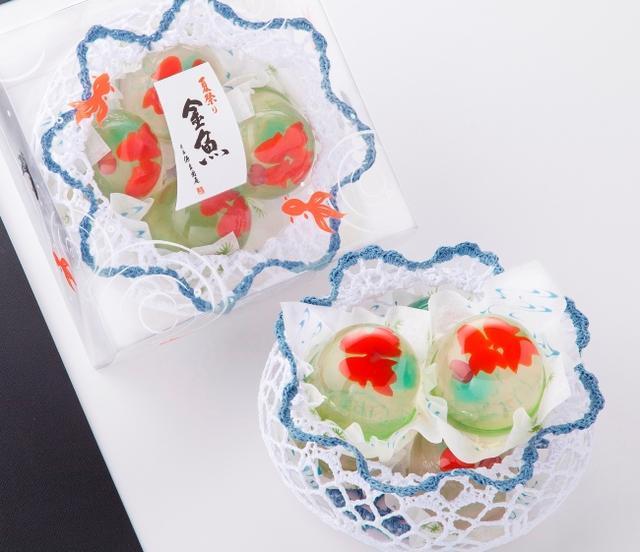 画像1: 宗家 源 吉兆庵より暑い季節にピッタリの涼やかな和菓子「金魚」が登場