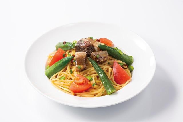 画像3: 食感が楽しいヤングコーンをピリ辛テイストで仕上げた 『ポークとヤングコーンのピリ辛トマトソースパニーニ』