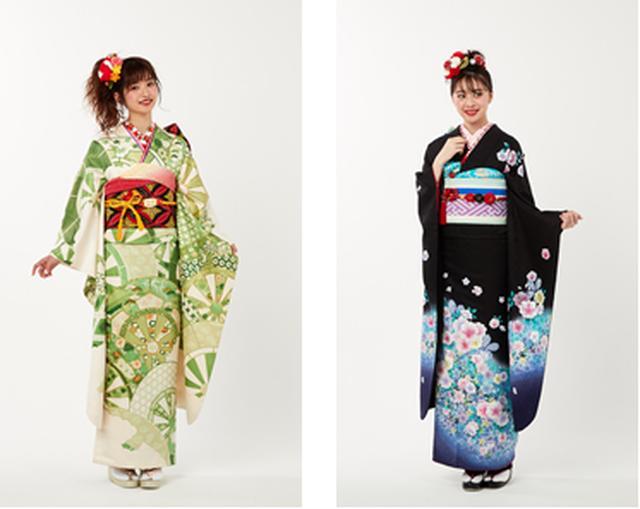 """画像1: 京都きもの友禅で、思い出のつまった振袖を""""イマドキ""""にアレンジ!"""
