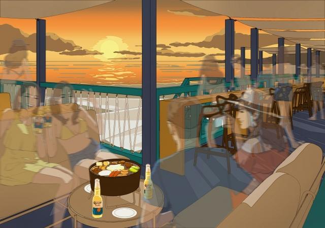 画像: 葉山の海とサンセットを一望できるプレミアムリザーブシート
