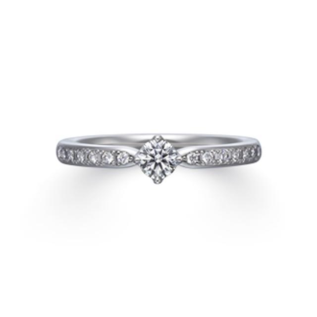 画像2: 【Flanery (フラネリー)】 センターダイヤモンド:0.18ct 素材:Pt950 幅:1.8mm メレ数:8石 価格(税込):213,840円