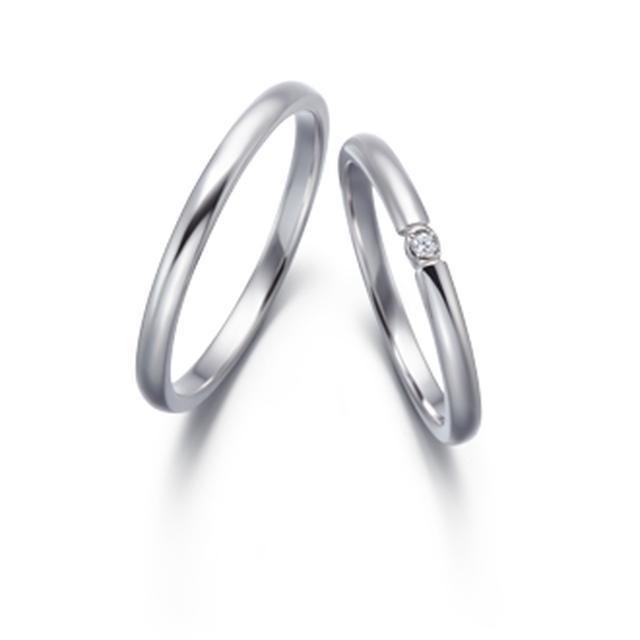 画像2: 【Mimoria (ミモリア)】 センターダイヤモンド:0.18ct 素材:Pt950 幅:2.0mm メレ数:14石 価格(税込):237,600円
