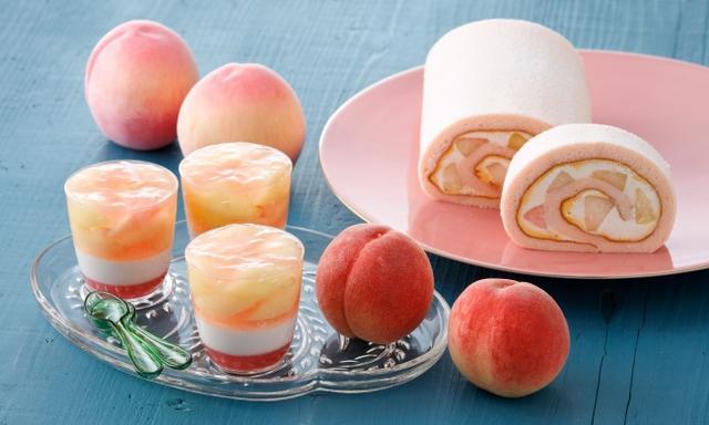 画像1: 【パティスリー キハチ】桃の果肉を増量!桃づくしが楽しめる