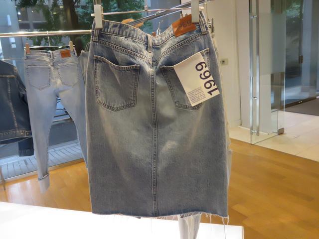 画像: オーセンティックインディゴを施したスカート