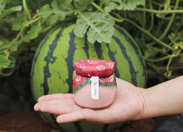 画像: 能登すいかがプリンに!薄ピンク色でサッパリ食感を再現