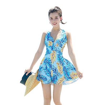 画像: [Qoo10] 水着 レディース ワンピース 花柄 リゾ... : レディース服