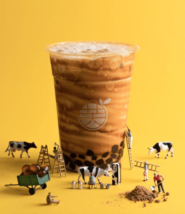 画像: 黒糖+牛乳+黒糖タピオカ ¥680(税込)