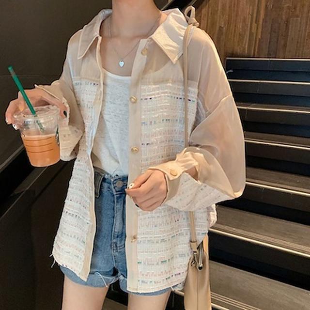 画像: [Qoo10] ペールトーン オーバーサイズ シャツ 春... : レディース服