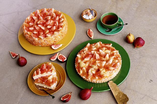 画像: 「いちじく」をふんだんに使ったタルトと、ショートケーキ。
