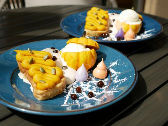 画像: 数量限定ハロウィンフレンチトースト(単品1300円/ドリンクセット1700円)