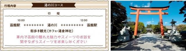 画像6: 貸切列車でスイーツ堪能&路地裏まち歩き!異国情緒溢れる街並みを巡る「函館スイーツ電車」、出発進行!