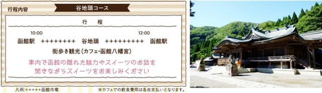 画像5: 貸切列車でスイーツ堪能&路地裏まち歩き!異国情緒溢れる街並みを巡る「函館スイーツ電車」、出発進行!