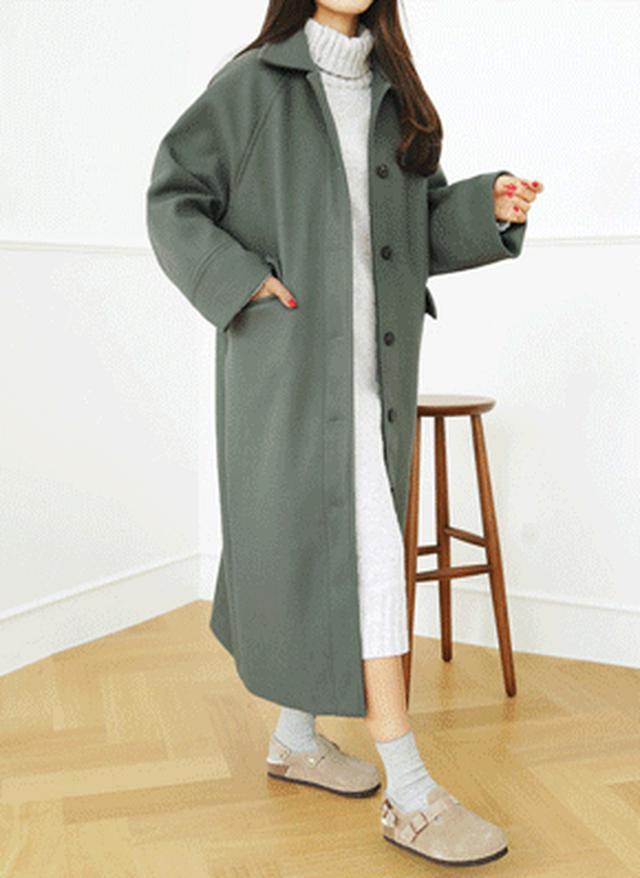 画像: [DHOLIC] ラグランスリーブボクシーロングコート・全5色アウターコート|レディースファッション通販 DHOLICディーホリック [ファストファッション 水着 ワンピース]