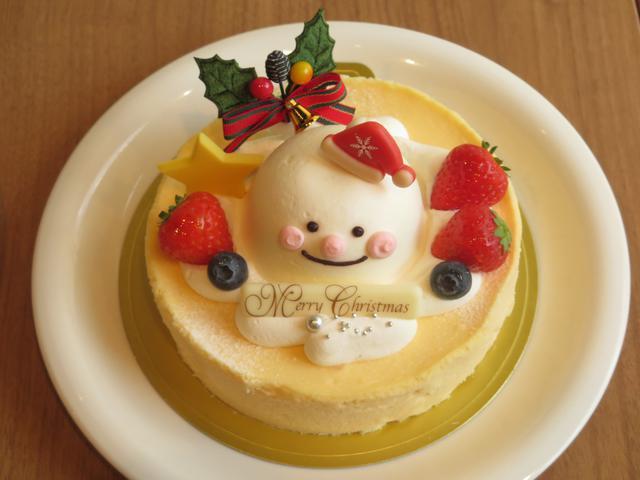 画像: クリスマス・スノーマンチーズケーキ
