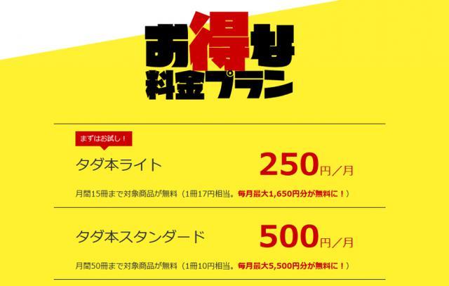 画像: 月額250円~。選べる2つのお得なプラン