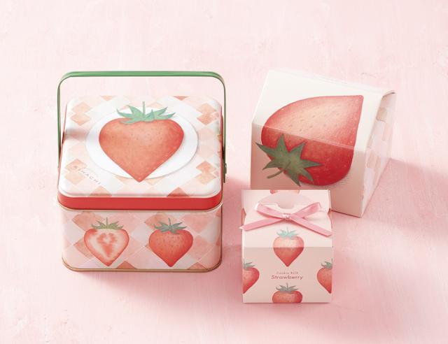 画像1: 冬季限定のお菓子を、いちご柄のスペシャルパッケージで発売!