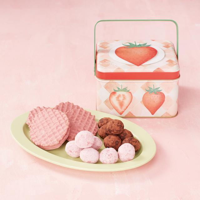 画像3: 冬季限定のお菓子を、いちご柄のスペシャルパッケージで発売!