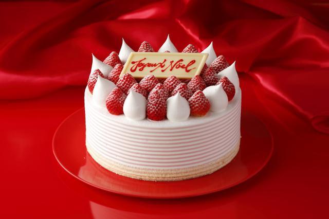 画像: スーパーあまおうショートケーキ(ホール) ¥12,000 ※税金別【サイズ】直径21cm×高さ6.5cm