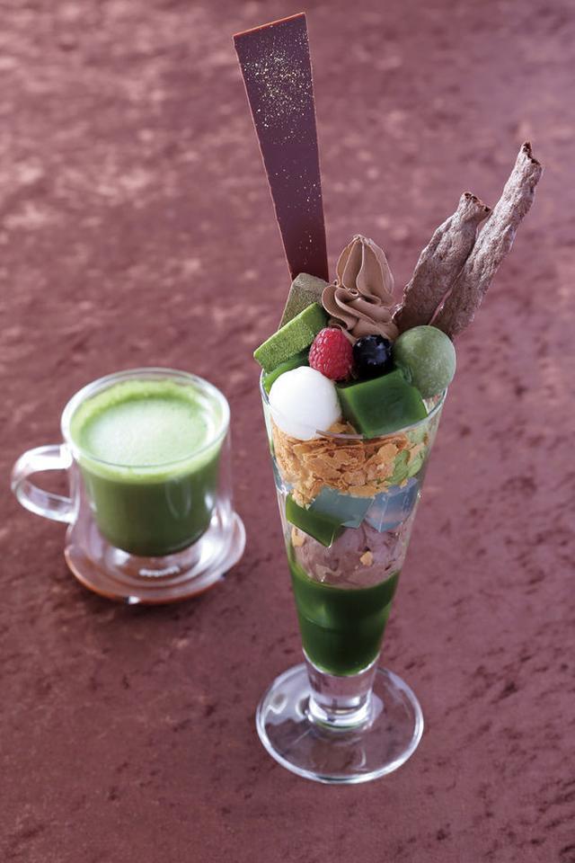 画像2: いちごとチョコが季節限定の抹茶パフェに!