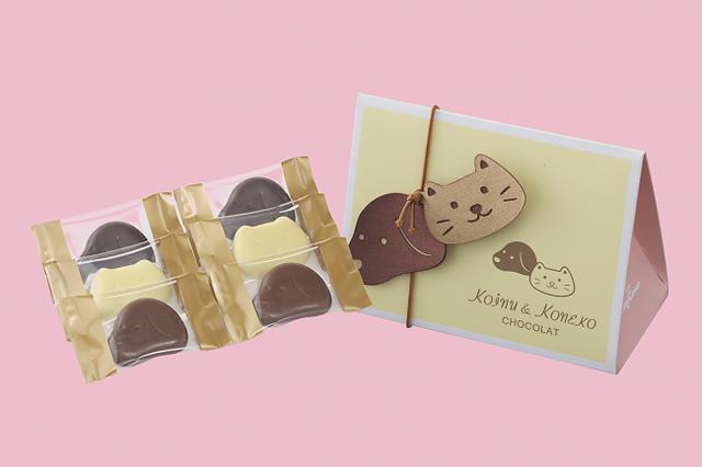 画像: 商品名:「小犬と小ねこのチョコレート(6個入)」[NEW] 価格:¥350(税込¥378)
