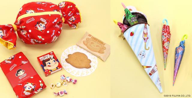 画像1: 「ミルキー」や「パラソルチョコレート」など不二家のお菓子が布地に!