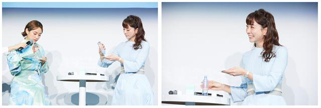 画像: 新発売の「ベネフィーク リセットクリア」を体験!肌へのやさしさに感心した石井、「普段は『こする』は禁止だけれど、この組み合わせは今までにはない使用感!」