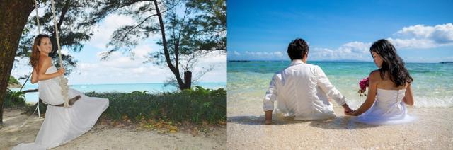 """画像2: 水中でのウエディングが叶うマリンドレス・ALLIES、石垣島で""""マリンフォトウエディング""""をスタート"""