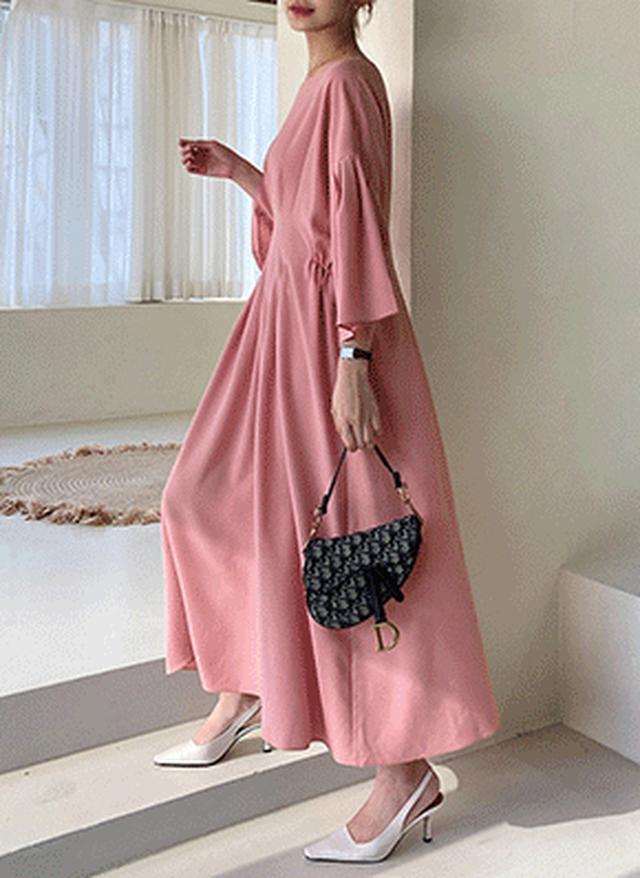 画像: [DHOLIC] タックロングワンピース・全3色ワンピース・スカート|レディースファッション通販 DHOLICディーホリック [ファストファッション 水着 ワンピース]