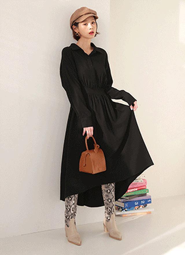 画像: [DHOLIC] ギャザーシャツワンピース・全2色ドレス・ワンピ|レディースファッション通販 DHOLICディーホリック [ファストファッション 水着 ワンピース]