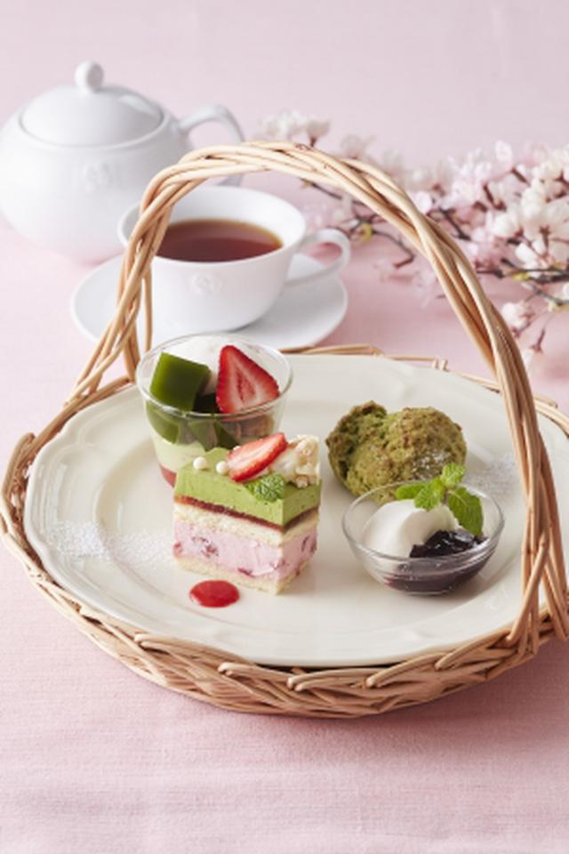 画像3: 【Afternoon Tea】新作「宇治抹茶と苺のパフェ 桜あんソース添え」など春限定<抹茶スイーツ>が登場!