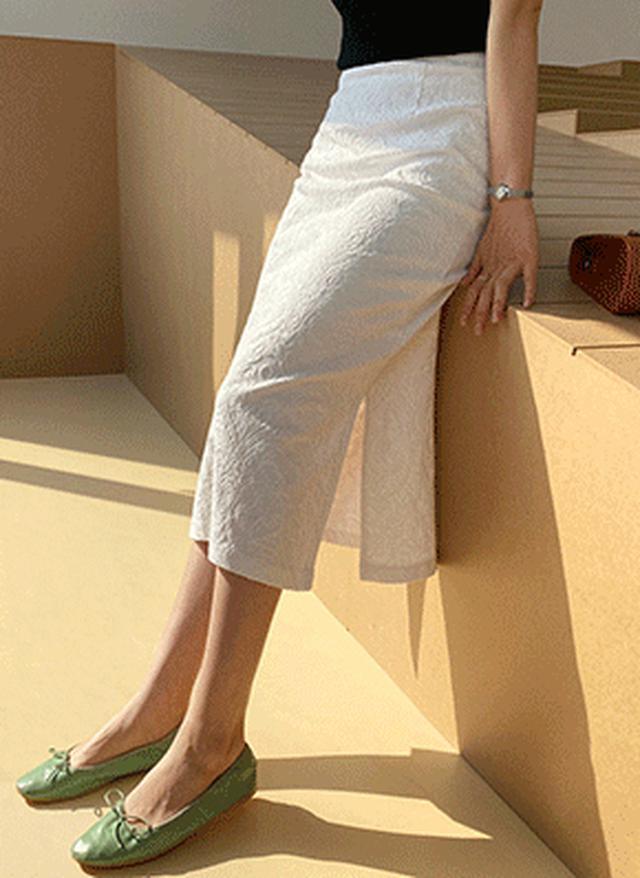 画像: [DHOLIC] 刺繍スリットスカート・全3色|レディースファッション通販 DHOLICディーホリック [ファストファッション 水着 ワンピース]