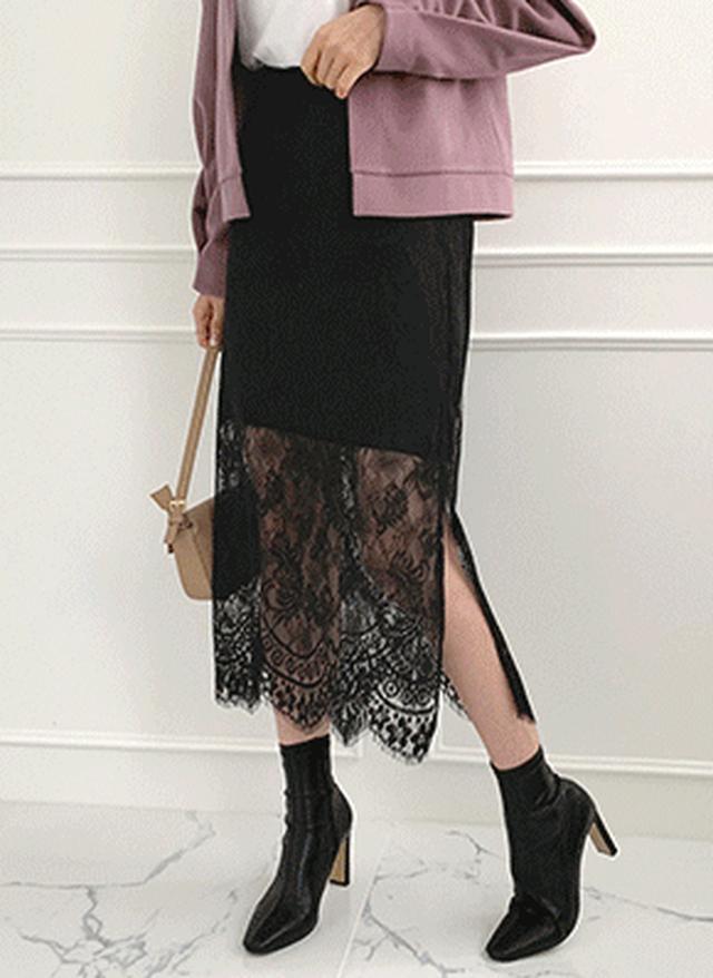 画像: [DHOLIC] スカラップヘムレーススカート・全3色|レディースファッション通販 DHOLICディーホリック [ファストファッション 水着 ワンピース]