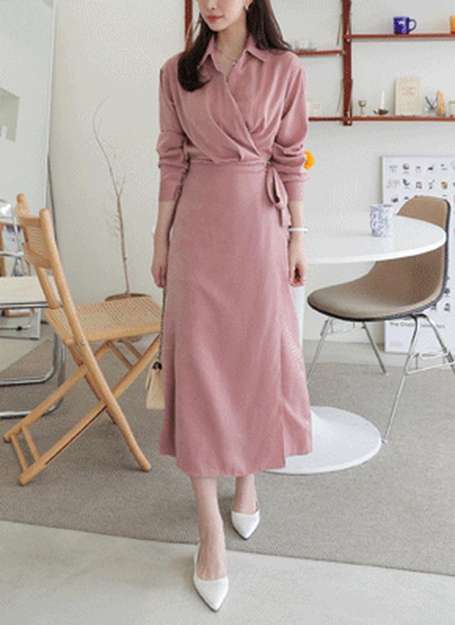 画像: [DHOLIC] カラーラップワンピース・全4色ワンピース・スカート|レディースファッション通販 DHOLICディーホリック [ファストファッション 水着 ワンピース]