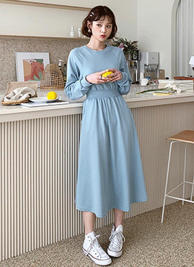 画像: [DHOLIC] ラグランフレアワンピース・全3色ドレス・ワンピ|レディースファッション通販 DHOLICディーホリック [ファストファッション 水着 ワンピース]