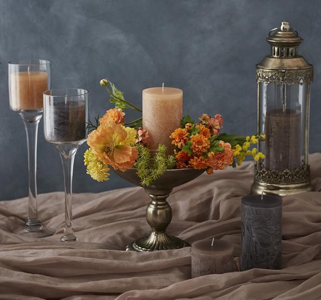 画像2: ウッドの質感を表現した柔らかで自然な色味のピラーキャンドルが登場!