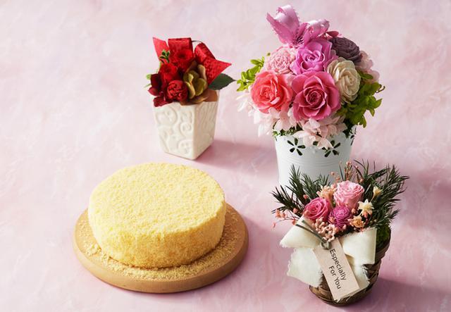 画像1: 今年もバラエティ豊かに!母の日には、お花と一緒においしいスイーツを贈りませんか?