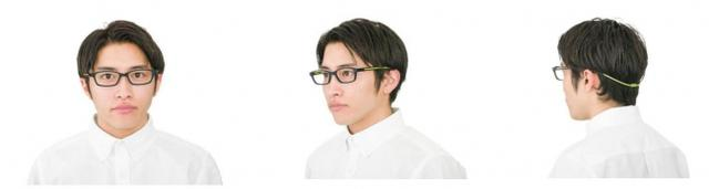 画像1: 自在に伸縮するスライド式のテンプルで、日常使いもできるスポーツ用メガネ