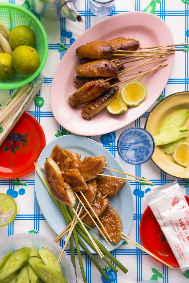 画像: ベトナム式グリルドーナツ&チキン