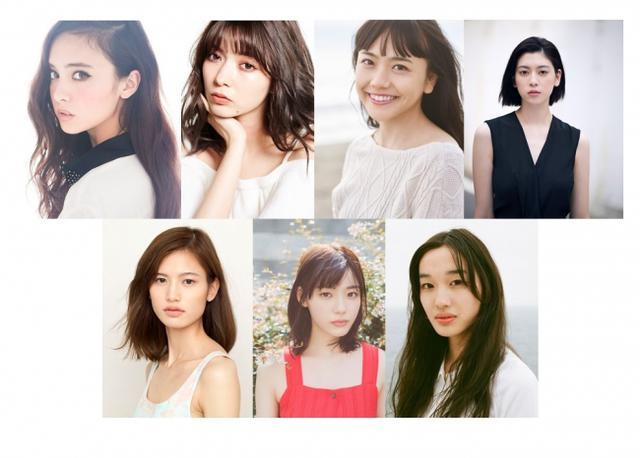 画像: 上段左より 石田ニコル、八木アリサ、松井愛莉、三吉彩花 下段左より 立花恵理、中村里帆、石田夢実