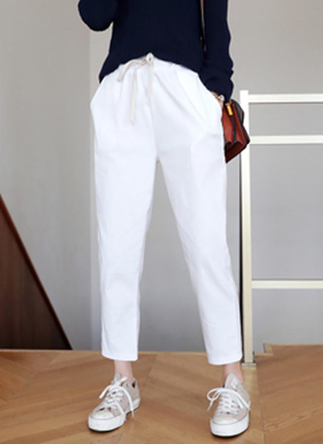 画像: [DHOLIC] ドローストリングスリムパンツ・全7色パンツ・ジーンズパンツ・ズボン|レディースファッション通販 DHOLICディーホリック [ファストファッション 水着 ワンピース]