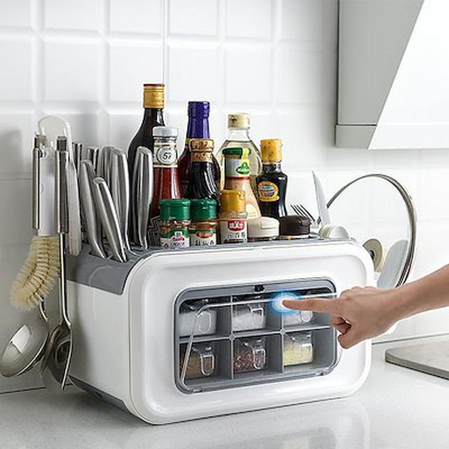 画像: [Qoo10] 多機能ラック キッチン収納ボックス : キッチン用品