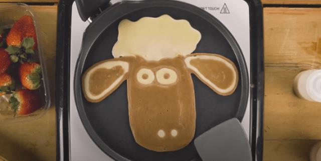 画像2: ひつじのショーン公式チャンネルで紹介!おうちで作れる可愛いパンケーキ