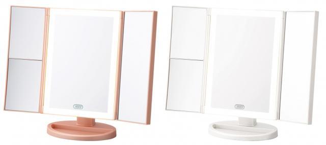 画像2: 明るく光るLEDライトと拡大鏡でお顔の細部まで素敵にメイクアップ「Toffy Beauty LEDトリプルミラー」