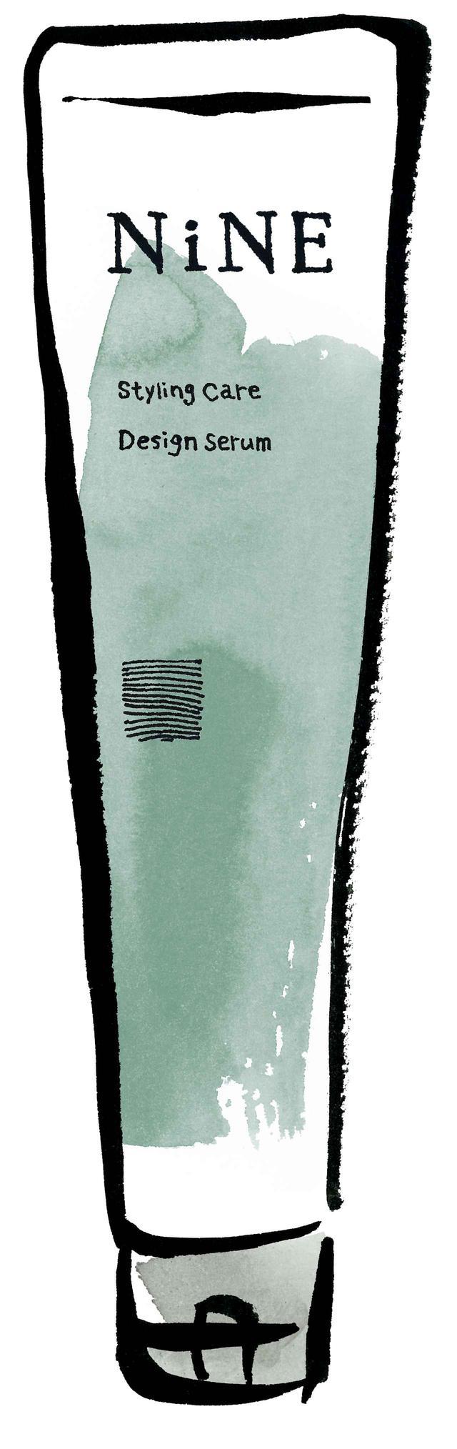 画像: ■デザインセラム こなれたセミウエットな質感と、ナチュラルなスタイリングを1本で表現できるクリーム。手のひらで広げるとオイルベースへと変化。ラフな巻髪スタイルに、柔らかさのあるツヤ感を与えつつ、エアリーなデザインを叶えます。