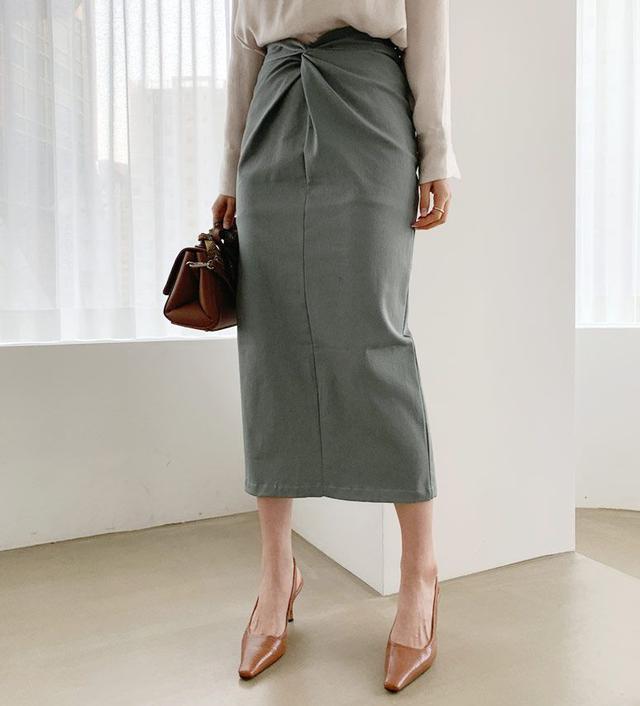 画像: ツイストHラインスカート・全3色・t60733 ¥4,752 (税込)